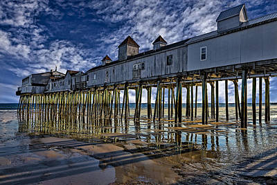 Old Orchard Beach Pier Poster by Susan Candelario