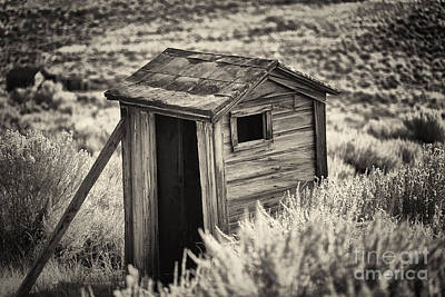 Old Outhouse In The Field Poster by George Oze