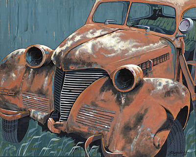 Old Plymouth Poster by John Wyckoff