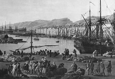 Old Port Of Toulon, Seen From The Quartermasters Stores, Series Of Les Ports De France, 1757 Poster by Claude Joseph Vernet