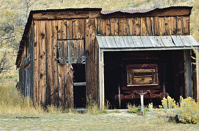 Old Shed And Wagon Poster by Kae Cheatham