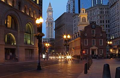 Old State House And Custom House In Boston Poster by Juergen Roth