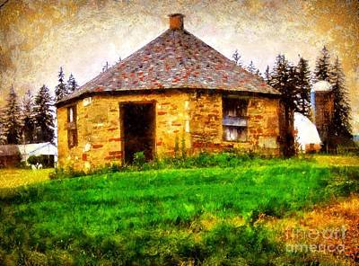 Old Stone Schoolhouse - South Canaan Poster by Janine Riley