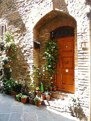 Old Streets Of Tuscany San Gimignano Poster by Irina Sztukowski