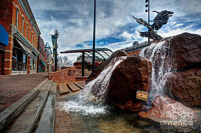 Old Town Fountain Poster by JulieannaD Photography