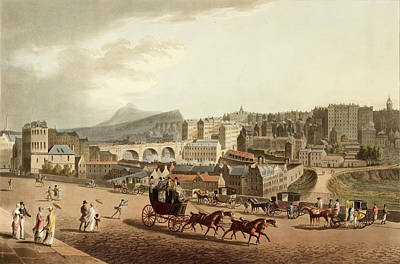 Old Town Of Edinburgh Poster by British Library