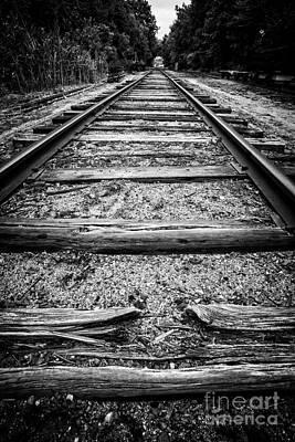 Old Train Tracks Poster by Edward Fielding