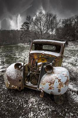 Old Truck In The Smokies Poster by Debra and Dave Vanderlaan