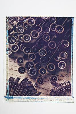 Old Typewriter Keys Poster by Garry Gay