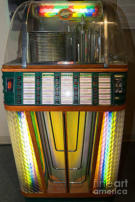 Old Vintage Rock Ola Jukebox Dsc2755 Poster by Wingsdomain Art and Photography