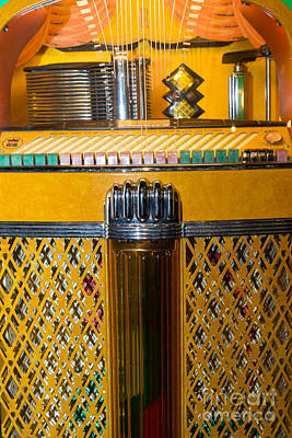 Old Vintage Rock Ola Jukebox Dsc2784 Poster by Wingsdomain Art and Photography