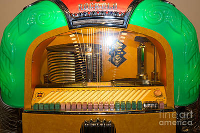 Old Vintage Rock Ola Jukebox Dsc2786 Poster by Wingsdomain Art and Photography