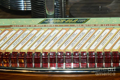 Old Vintage Rock Ola Jukebox Dsc2795 Poster by Wingsdomain Art and Photography