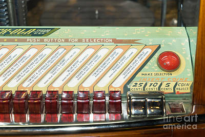 Old Vintage Rock Ola Jukebox Dsc2796 Poster by Wingsdomain Art and Photography