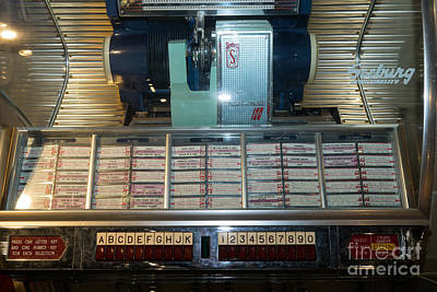 Old Vintage Seeburg Jukebox Dsc2752 Poster by Wingsdomain Art and Photography