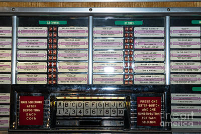 Old Vintage Seeburg Jukebox Dsc2762 Poster by Wingsdomain Art and Photography
