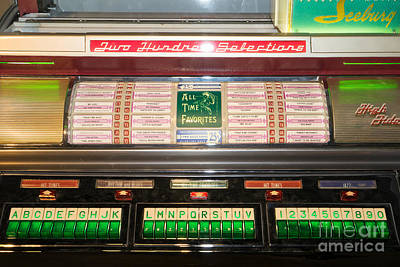 Old Vintage Seeburg Jukebox Dsc2765 Poster by Wingsdomain Art and Photography