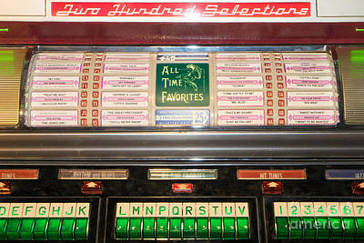 Old Vintage Seeburg Jukebox Dsc2766 Poster by Wingsdomain Art and Photography
