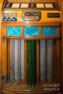 Old Vintage Seeburg Jukebox Dsc2802 Poster by Wingsdomain Art and Photography