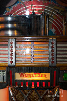 Old Vintage Wurlitzer Jukebox Dsc2705 Poster by Wingsdomain Art and Photography