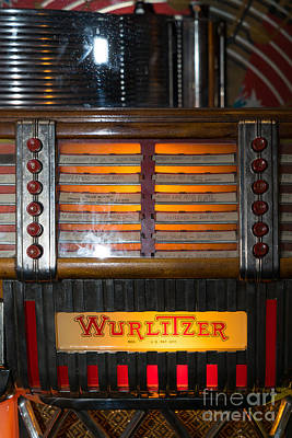 Old Vintage Wurlitzer Jukebox Dsc2706 Poster by Wingsdomain Art and Photography