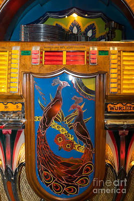Old Vintage Wurlitzer Jukebox Dsc2779 Poster by Wingsdomain Art and Photography