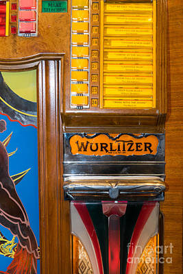 Old Vintage Wurlitzer Jukebox Dsc2780 Poster by Wingsdomain Art and Photography