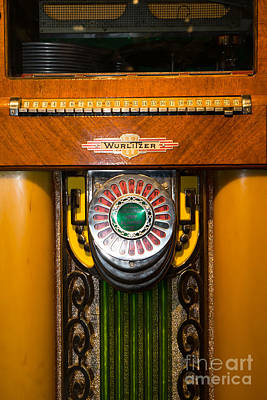 Old Vintage Wurlitzer Jukebox Dsc2808 Poster by Wingsdomain Art and Photography