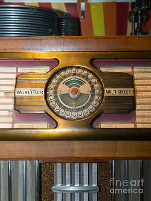 Old Vintage Wurlitzer Jukebox Dsc2811 Poster by Wingsdomain Art and Photography