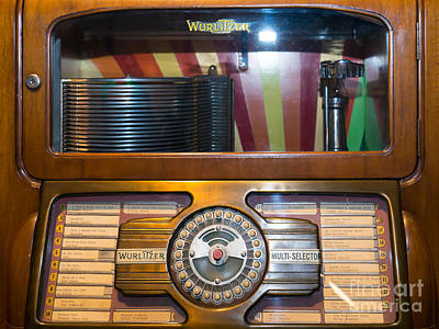 Old Vintage Wurlitzer Jukebox Dsc2815 Poster by Wingsdomain Art and Photography