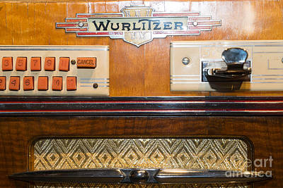 Old Vintage Wurlitzer Jukebox Dsc2818 Poster by Wingsdomain Art and Photography
