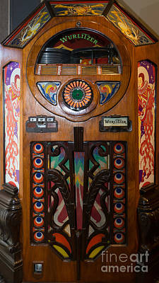 Old Vintage Wurlitzer Jukebox Dsc2820 Poster by Wingsdomain Art and Photography