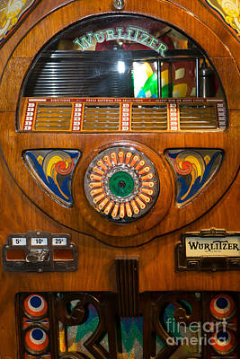 Old Vintage Wurlitzer Jukebox Dsc2824 Poster by Wingsdomain Art and Photography