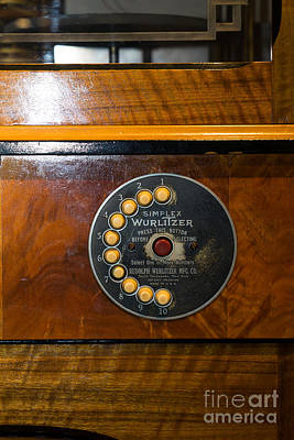 Old Vintage Wurlitzer Jukebox Dsc2827 Poster by Wingsdomain Art and Photography