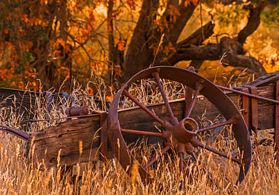 Old Wagon Wheel Poster by Marc Crumpler