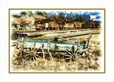 Old Western Wagon Poster by Barry Monaco