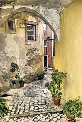 Old World Courtyard Of Europe Poster by David Letts
