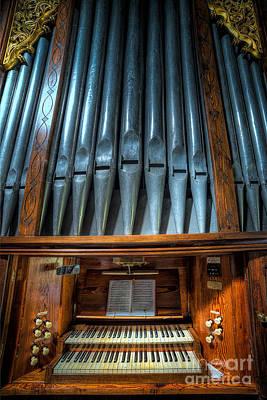 Olde Church Organ Poster by Adrian Evans