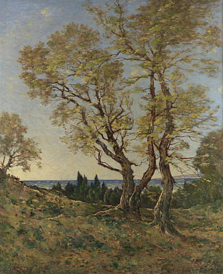 Olive Trees At Menton Poster by Henri-Joseph Harpignies