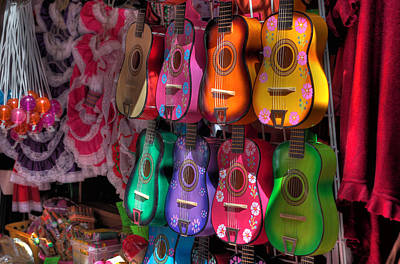 Olvera Street Ukeleles Poster by Richard Hinds