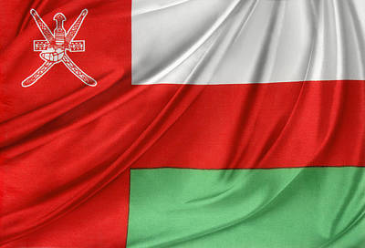 Oman Flag Poster by Les Cunliffe