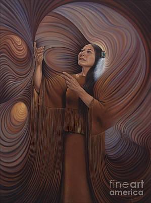 On Sacred Ground Series V Poster by Ricardo Chavez-Mendez