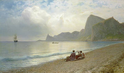 On The Beach Poster by Lef Feliksovich Lagorio
