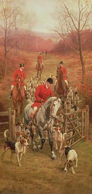 On The Scent, 1906 Poster by Edward Algernon Stuart Douglas