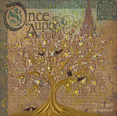 Once Upon A Golden Garden By Jrr Poster by First Star Art