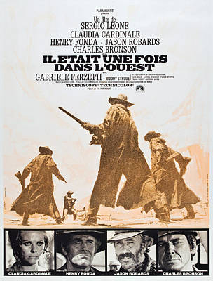 Once Upon A Time In The West, Aka Il Poster by Everett