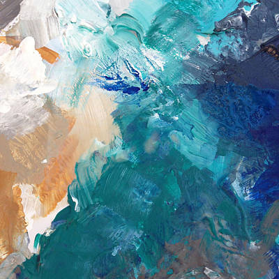 On A Summer Breeze- Contemporary Abstract Art Poster by Linda Woods