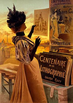 One Hundred Years Of Lithography Poster by Hugo d' Alesi