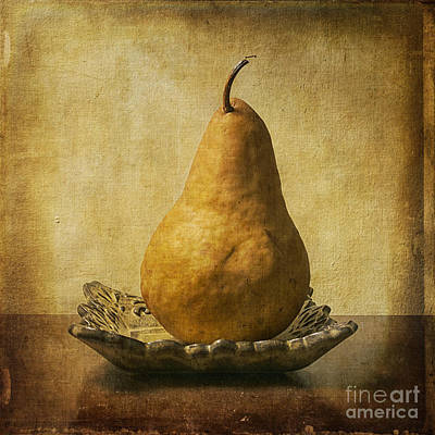 One Pear Meditation Poster by Terry Rowe