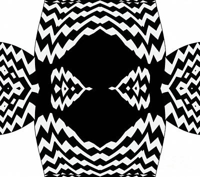 Op Art Black White Geometric No.310. Poster by Drinka Mercep